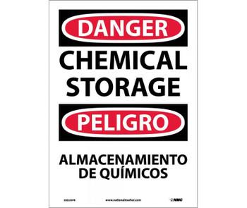 Danger Chemical Storage Bilingual 14X10 Ps Vinyl