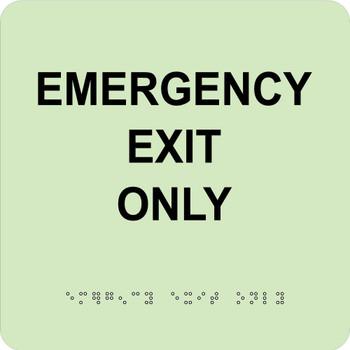 Emergency Exit Only 8X8 Glow Ada