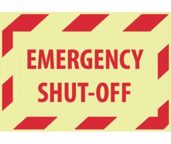 Emergency Shut-Off 3X5 Ps Vinylglow 5/Pk
