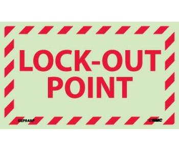 Lock-Out Point 3X5 Ps Vinylglow 5/Pk