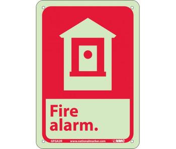 Fire Fire Alarm 10X7 Rigid Plasticglow