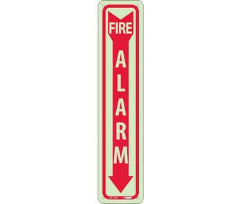 Fire Fire Alarm 18X4 Rigid Plasticglow