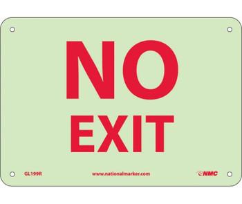 Misc No Exit 7X10 Rigid Plasticglow