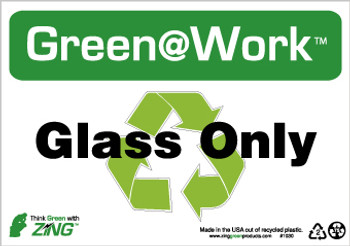 Glass Only 7X10 Recycle Plastic