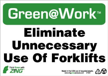 Eliminate Unnecessary Use Of Forklifts 7X10 Recycle Plastic