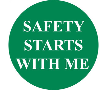 """Safety Starts With Me 2""""Dia Ps Vinyl 25/Pk"""