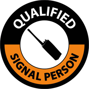 """Hard Hat Label Qualified Signal Person 2"""" Dia Reflective Ps Vinyl 25/Pk"""