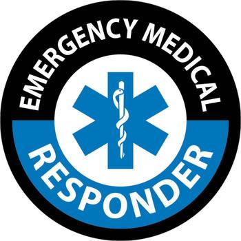 "Hard Hat Label Emergency Medical Responder 2"" Dia Reflective Ps Vinyl 25/Pk"