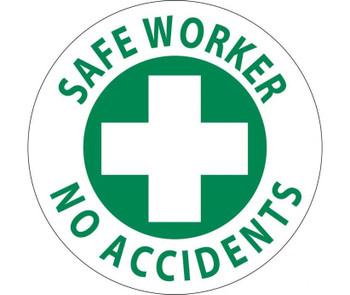 """Hard Had Emblem Safe Worker No Accidents 2"""" Dia Ps Vinyl"""