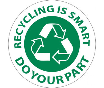 Recycling Is Smart Do Your Part 2Dia Ps Vinyl 25/Pk