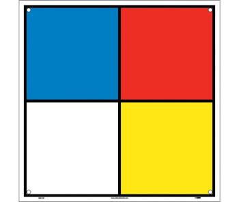 Hazardous Materials Systems Label 10.5X10.5 Rigid Plastic Square Corners With Holes.