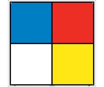 Hazardous Materials Systems 15.5X15.5 Rigid Plastic  Square Corners With Holes.