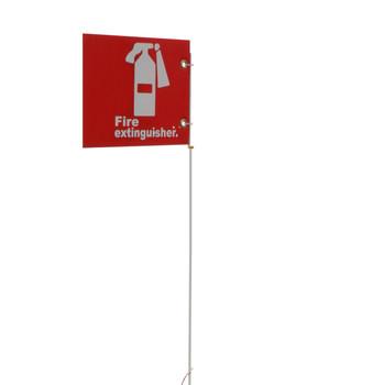 "Jsc 5' Pole Only W/ 10"" X 7"" Alum. Fire Extinguisher Sign"