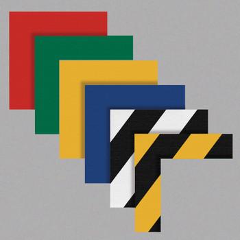 Corner Marking Angles 2 Inch Wide Stems Heavy Duty Ps Vinyl Black & Yellow Diagonal Stripe 25/Pk