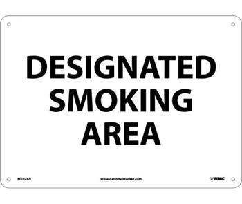 Designated Smoking Area 10X14 .040 Alum
