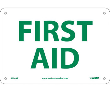 First Aid 7X10 Rigid Plastic