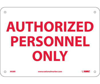 Authorized Personnel Only 7X10 Rigid Plastic