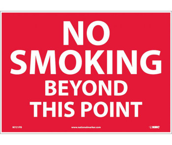 No Smoking Beyond This Point 10X14 Ps Vinyl