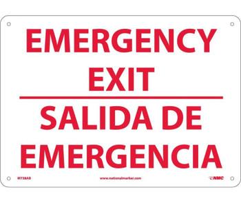 Emergency Exit Bilingual 10X14 .040 Alum