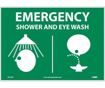 Emergency Shower & Eye (Graphics) 10X14 Ps Vinyl