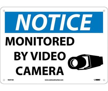 Notice Monitored By Video Camera 10X14 .040 Alum