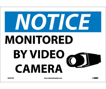 Notice Monitored By Video Camera 10X14 Ps Vinyl