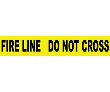 """Tape Barricade Fire Line Do Not Cross 3 Mil 3""""X1000'"""