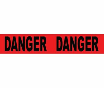"""Tape Barricade  Danger 3 Mil 3""""X1000'"""