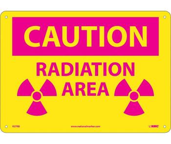 Caution Radiation Area 10X14 .050 Rigid Plastic