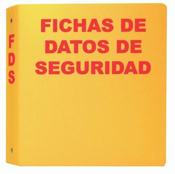 "Spanish Yellow Sds Binder 2"" Spine  1 1/2"" Rings"