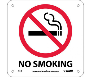 No Smoking (W/ Graphic) 7X7 Rigid Plastic