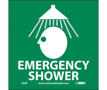Emergency Shower (W/Graphic) 7X7 Ps Vinyl