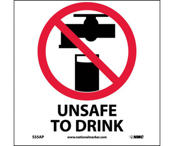 Unsafe To Drink 4X4 Ps Vinyl 5/Pk