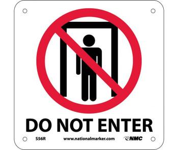 Do Not Enter (W/ Graphic) 7X7 Rigid Plastic