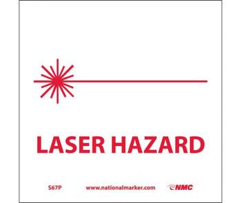 Laser Hazard (W/Graphic) 7X7 Ps Vinyl