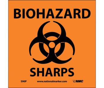 Biohazard Sharps (W/Graphic) 7X7 Ps Vinyl