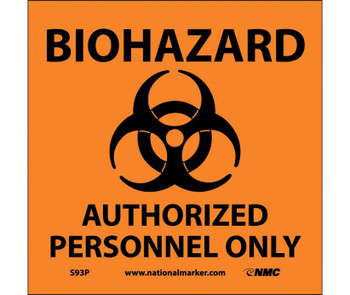 Biohazard Authorized Personnel Only (W/Graphic) 7X7 Ps Vinyl