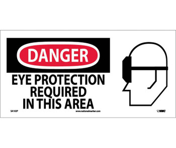 Danger Eye Protection Required In This Area (W/ Graphic) 7X17 Ps Vinyl