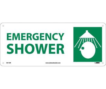 Emergency Shower (W/Graphic) 7X17 Rigid Plastic