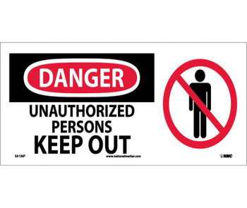 Danger Unauthorized Persons Keep Out (W/ Graphic) 7X17 Ps Vinyl