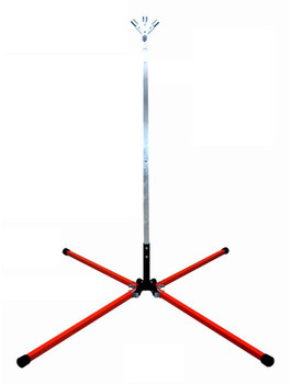 Compact Traffic Sign Stand For Rigid And Roll Up Signs For 30 - 48 In. Roll Up Signs