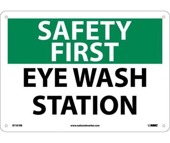 Safety First Eye Wash Station 10X14 Rigid Plastic