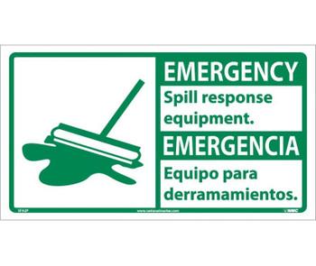 Emergency Spill Response Equipment (Bilingual W/Graphic) 10X18 Ps Vinyl