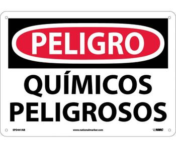 Peligro Quimicos Peligrosos 10X14 .040 Alum