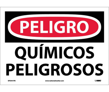 Peligro Quimicos Peligrosos 10X14 Ps Vinyl