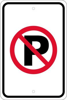 No Parking Graphic Symbol 18X12 .080 Egp Ref Alum