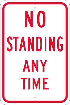 No Standing Anytime 18X12 .080 Egp Ref Alum
