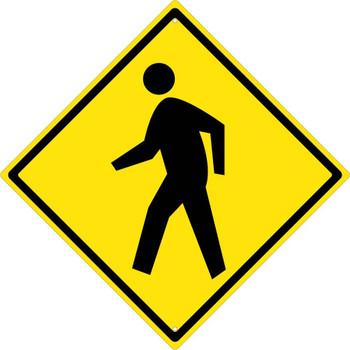 Pedestrian Crossing (Graphic) (Diamond Shape) 30X30 .080 Dg Ref Alum Sign