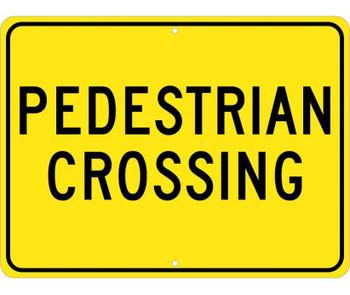 Pedestrian Crossing 18X24 .080 Egp Ref Alum