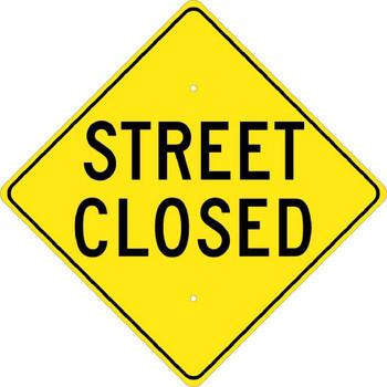 Street Closed 24X24 .080 Hip Ref Alum